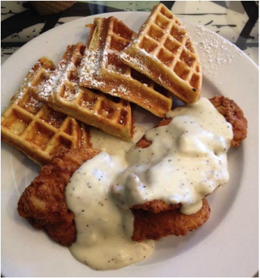 1. Chicken and Waffles