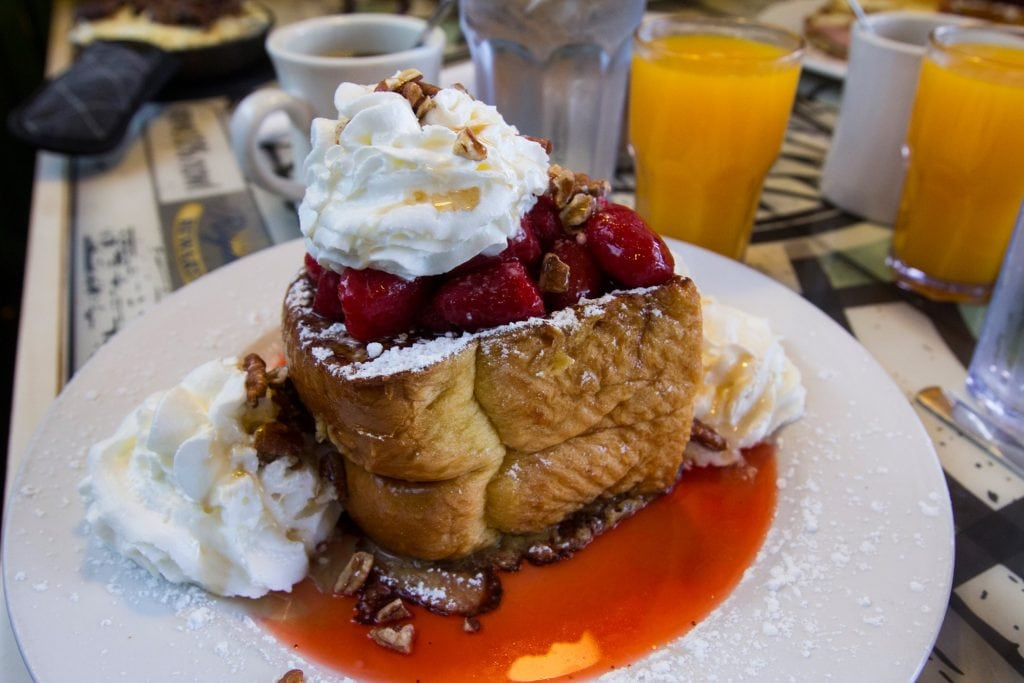 Delicious French Toast made by The Breakfast Shoppe